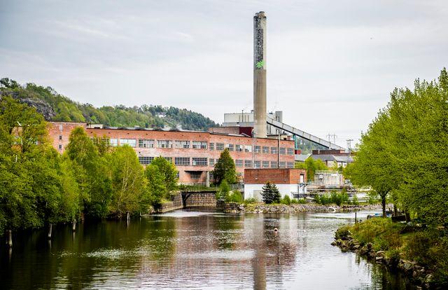 Papirfabrikken Saugbrugs i Halden.