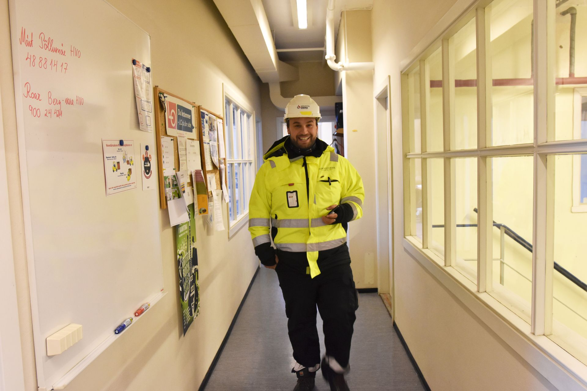 Godt arbeid: Tillitsvalgt Cay Nordhaug i Industri Energi-klubben.