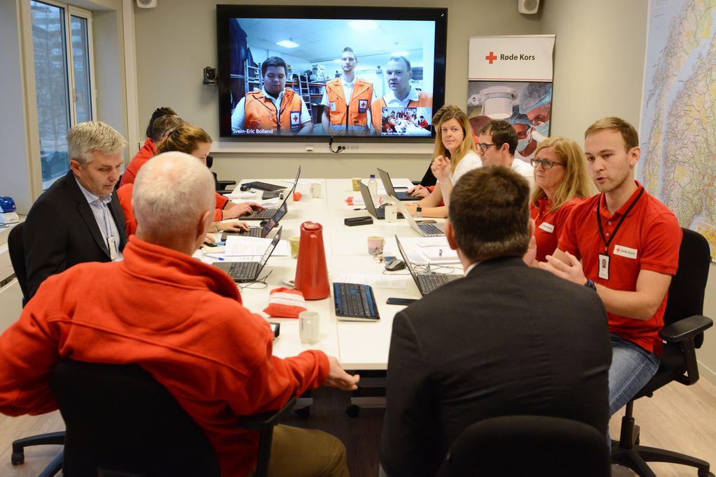 7b140e53 OPERASJONSROM: Her skal Røde Kors koordinere kriser. I dag starter en  lengre øvelse på